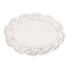 190x268mm Oval Paper Lace Doyley