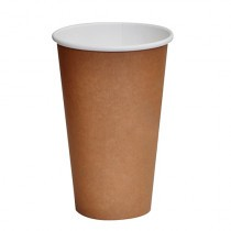 16oz Cup-to-Grow Brown Single Wall Coffee Cup