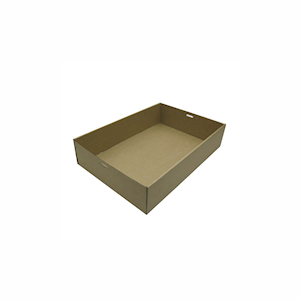 Small (255x153x80) Window Brown Catering Tray - Base