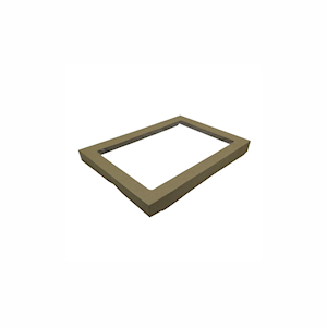Small (255x153x30) Window Brown Catering Tray - Lid