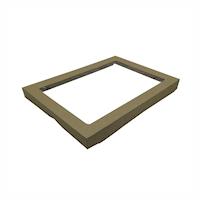 Medium (250x360x30) Window Brown Catering Tray - Lid