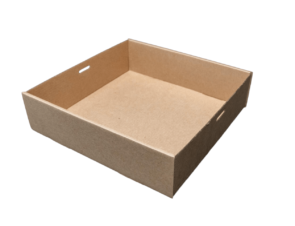 Square (225x225x60) Window Brown Catering Tray - Base