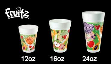 20oz/591ml Fruitz Foam Cup