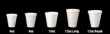 12oz/355ml Long Plain White Foam Drink Cup
