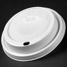 8oz White Plastic Coffee Sip Lid