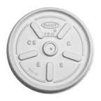 10/12(Long only)oz Flat White Plastic Vented Lid