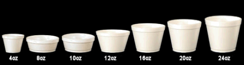 10oz/296ml Round White Foam Food Container