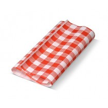 Red Gingham (190x300m) Greaseproof Paper Sheets