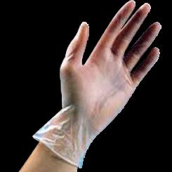 Large Lightly Powdered Blue Vinyl Gloves