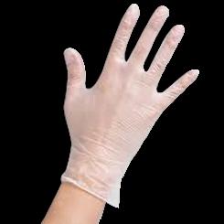 Medium Powder Free Clear Vinyl Gloves