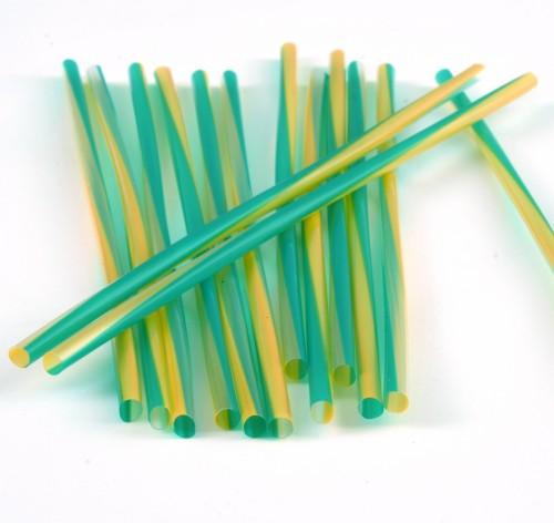 240mm Green/Gold Thickshake Straw