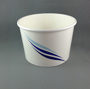 16oz/473ml (110Dx75) Blue-Wave Ice-Cream Cup