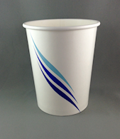 32oz/940ml (110Dx135) Blue-Wave Ice-Cream Cup