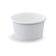 4oz / 118ml (75Dx50) White Paper Ice Cream Cup