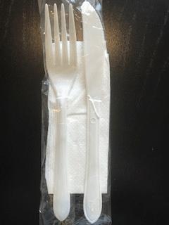 Premium Knife, Fork, Napkin Pack