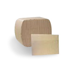 1ply (1/6F 240x225) Brown Recycled Dispenser Napkin