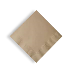 2ply QT (1/4F 240x240) Brown Recycled Cocktail Napkin