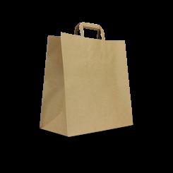 Takeaway (Like Uber-310w+180x310h) Brown Flat Fold Handle Paper Bag