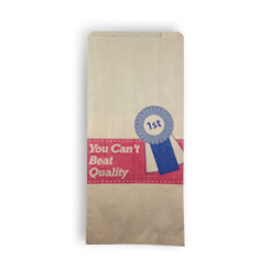 6SO (150+90x320) Quality Meat HWS Paper Bag