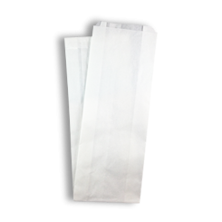 Single French Stick (115+50x600h) White Paper Bag