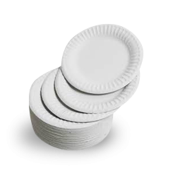 6 Inch (150D) White Paper Plate