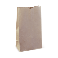 16SOS (240w+120x390h) Brown Deli Paper Bag
