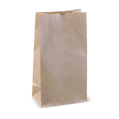 4SOS (127w+80x248h) Brown Deli Paper Bag