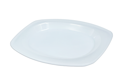 9x11inch (210x300) White Heavy Duty (PPI) Plastic Oval Plate