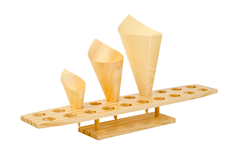 Wooden Cone Stand (450x90x60)