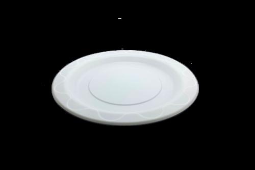 7 inch (180D) White Heavy Duty (PPI) Plastic Plate