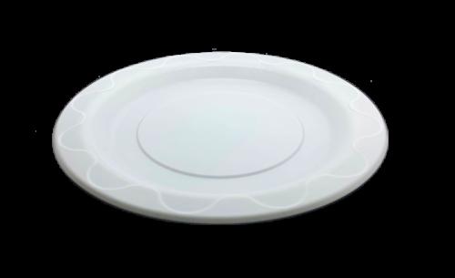 9 Inch (230D) White Heavy Duty (PPI) Plastic Plate