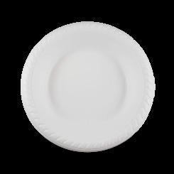 7 Inch (180Dx30) White Plastic Desert Bowl
