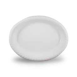 7x9inch (180x230) White Plastic Oval Plate
