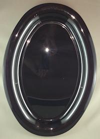 16inch Black Oval Plastic Platter