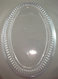 16inch Clear Oval Dome Platter Lid