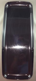 22inch Black Rectangular Plastic Platter