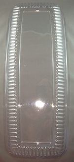22inch Clear Rectangular Dome Platter Lid