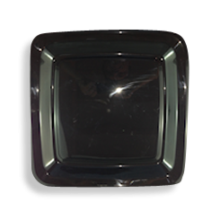 16inch Black Square Plastic Platter