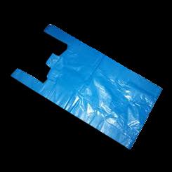 Large Premium (300+160x560h) Blue Plastic Singlet Bag