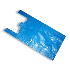 Medium (250+120x500h) Blue Plastic Singlet Bag