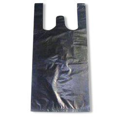Medium Blue CoEx (250+125x500h) Plastic Singlet Bag
