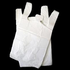 Jumbo (400w+200x700h) White Plastic Singlet Bag