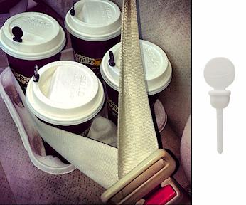Coffee Lid Plugs - White