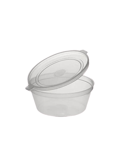 2oz/50ml (45Dx25) Hinged Lid Clear Sauce Container
