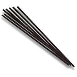 240mm Black Long Plastic Straw