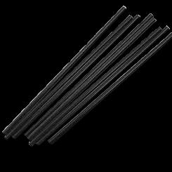 210mm Black Regular Plastic Straw