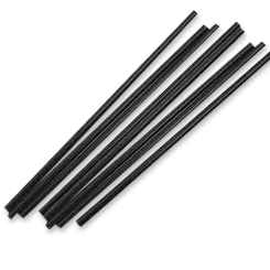 240mm Black Thickshake Plastic Straw