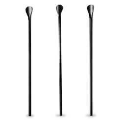 200mm Black Spoon Plastic Straw
