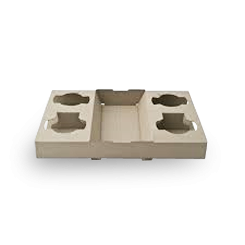 4 Cup (290x174x39mm) Carry Tray