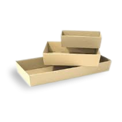 Small (255x155x80) Brown Kraft Catering Tray (Base)